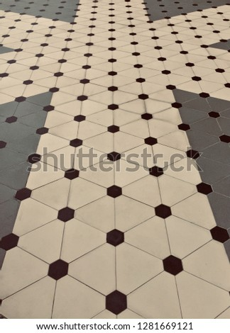 Polka Dot pattern background. Polka dot pattern and style on the floor. -image #1281669121