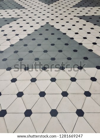 Polka Dot pattern background. Polka dot pattern and style on the floor. -image #1281669247