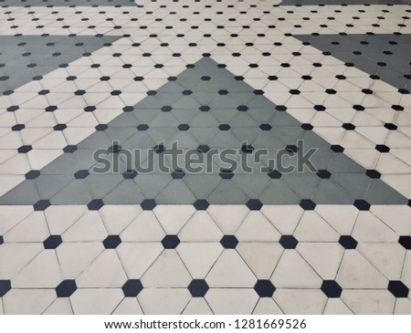 Polka Dot pattern background. Polka dot pattern and style on the floor. -image #1281669526