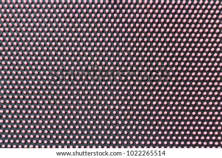 Polka dot seamless pattern. Pink dots on black background. Good for design of wrapping paper, party invitation and greeting cards. #1022265514