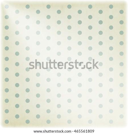 Polka dot vintage background, retro style texture