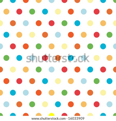 Polka Dots pattern in bright colors