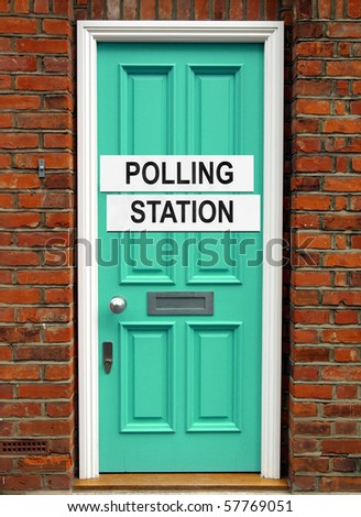 Polling station place for voters to cast ballots in elections