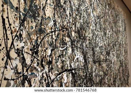 Pollock painting on the wall