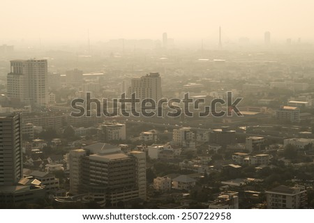 pollution in the city #250722958