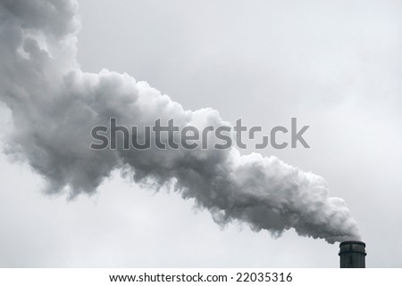 Pollution: Industrial Smoke, Smog coming out of Chimney