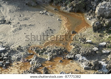 pollution theme showing a contaminated soil structure