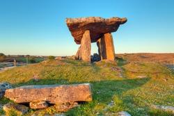 Polnabrone Dolmen in Burren, Co. Clare - Ireland