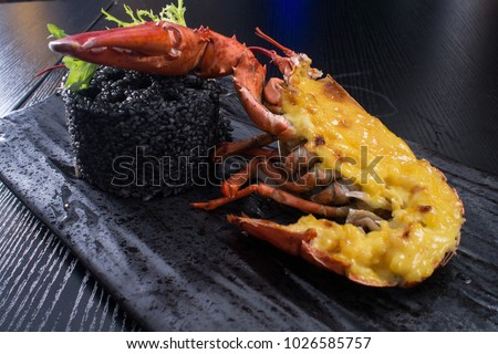 Polon briquettes rice meal dragon lobster Stock photo ©