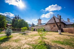 Polovragi, Romania - Septemper 9, 2012: Old orthodox monastery from Polovragi, Romania