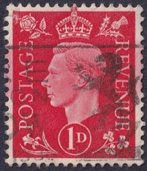 POLTAVA, UKRAINE - APRIL 27, 2019. Vintage stamp printed in Great Britain 1941 shows , King George VI