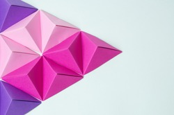 Polygon origami pyramids background