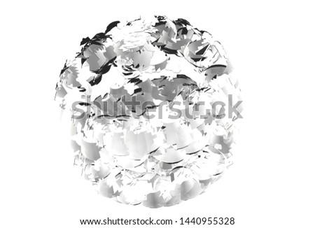 polygon spiral tectonics pattern for design 3d illustration 3d rendering #1440955328