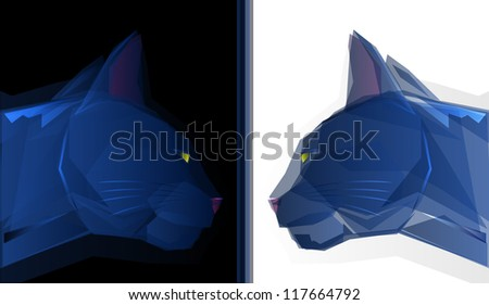 Polygonal Cat Mascot