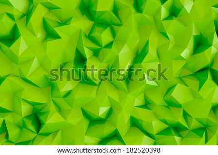 Polygonal lime green 3d triangle geometric abstract background wallpaper
