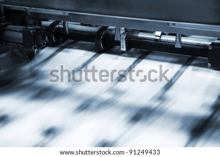 Polygraphic process in a modern printing house Stock photo ©