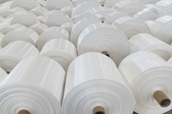 Polypropylene rolls for packaging. Best used for promoting chemical products and recycled products.