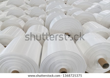 Polypropylene rolls for packaging. Best used for promoting chemical products and recycled products. #1368725375