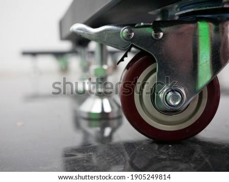 polyurethane caster wheels or trolley wheels. Foto stock ©