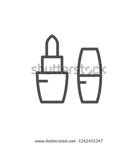 Pomade line icon isolated on white