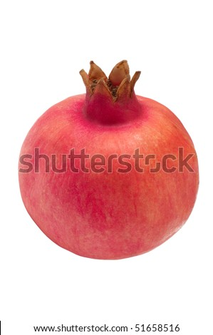 Pomegranate isolated on a white
