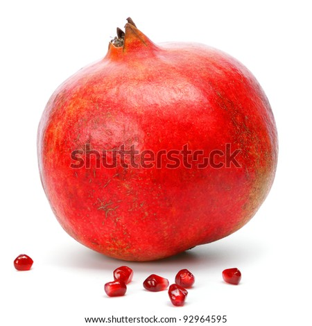 pomegranate isolated on white background