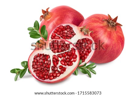 Pomegranate isolated on white background with clipping path and full depth of field. Сток-фото ©