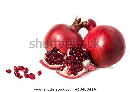 pomegranate isolated pomegranate slices healthy tasty diet vitamin