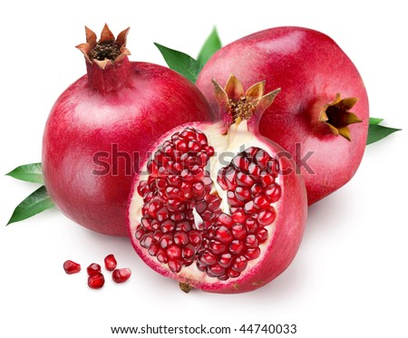 stock photo : Pomegranate on a white background