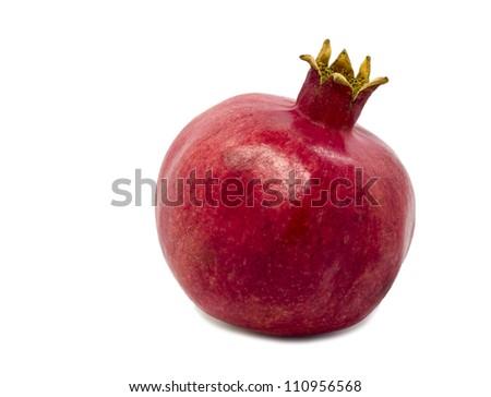 Pomegranate (Punica granatum) isolated on white background
