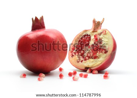 pomegranates, isolated. Used for Rosh Hashana dinner