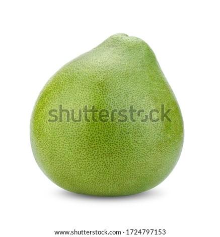 pomelo fruit (Thailand Siam ruby pomelo) isolate on white background Foto stock ©