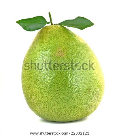 Pomelo isolated on white background
