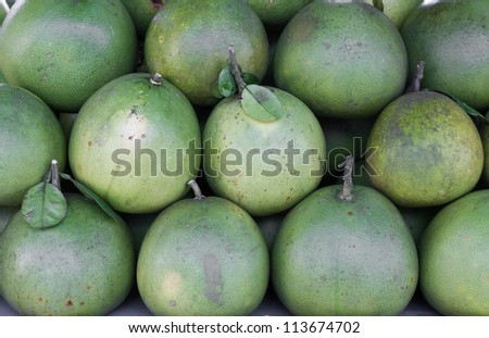 Pomelo or pummelo. For sele in market's or grocery's product.