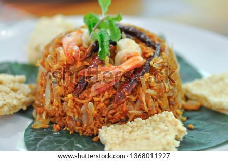 pomelo salad or Thai salad, spicy salad