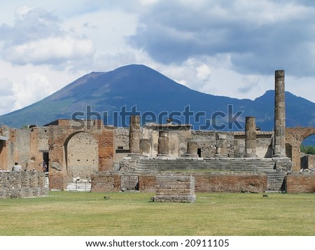 pompeii and mount vesuvius, italy