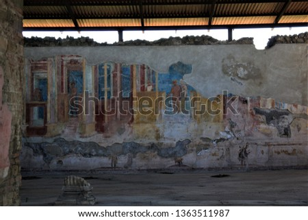 Pompeii Fresco 79ad