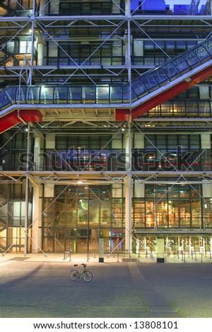 pompidou center - detail in night - Paris