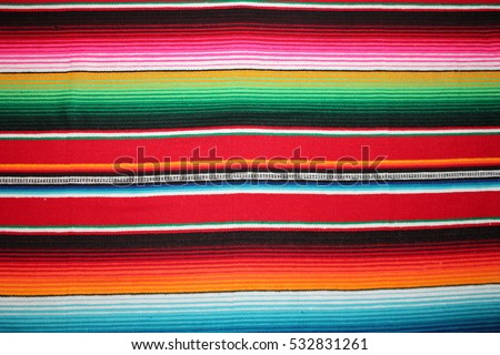 poncho Mexican cinco de mayo rug serape fiesta traditional Mexico background with stripes copy space maya blanket minimal simple - Shutterstock ID 532831261