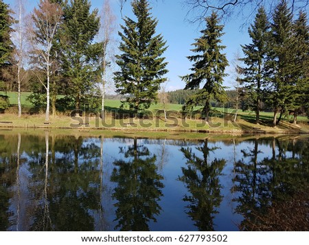 Pond, fish pond #627793502