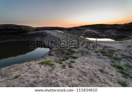 pond in Sampanbok , in Mekong River, Ubon Ratchathani. Grand canyon in Thailand - stock photo
