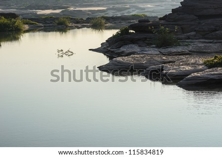 pond in Sampanbok , in Mekong River, Ubon Ratchathani. Grand canyon in Thailand