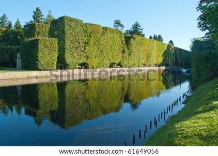 pond in the park at Oliwa