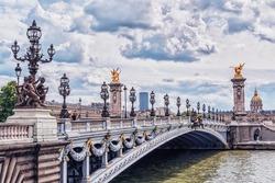 Pont Alexandre III (Alexandre III bridge) in Paris.