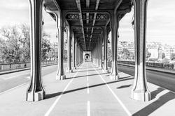 Pont de Bir Hakeim in Paris, France, a bridge for Metro