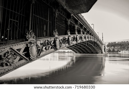 Pont de l'Universite across the Rhone River - Bridge of Lyon, France