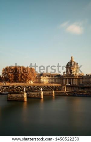 Pont des Arts and Institut de France in Paris, France. #1450522250