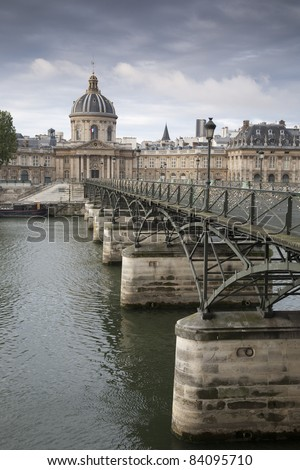 Pont des Arts Bridge over River Seine, Paris, France