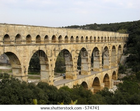 Pont du Gard - Roman Aqueduct in the South of France