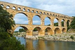 Pont du Gard, Roman aqueduct, Languedoc Roussillon region, Unesco World Heritage Site, France